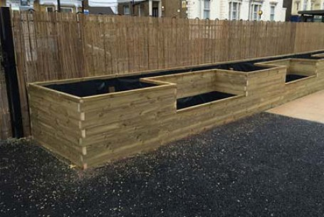 Whitehorse Manor Primary Public Space Planters